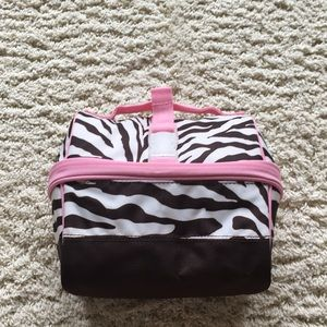Pottery Barn kids zebra retro lunch box